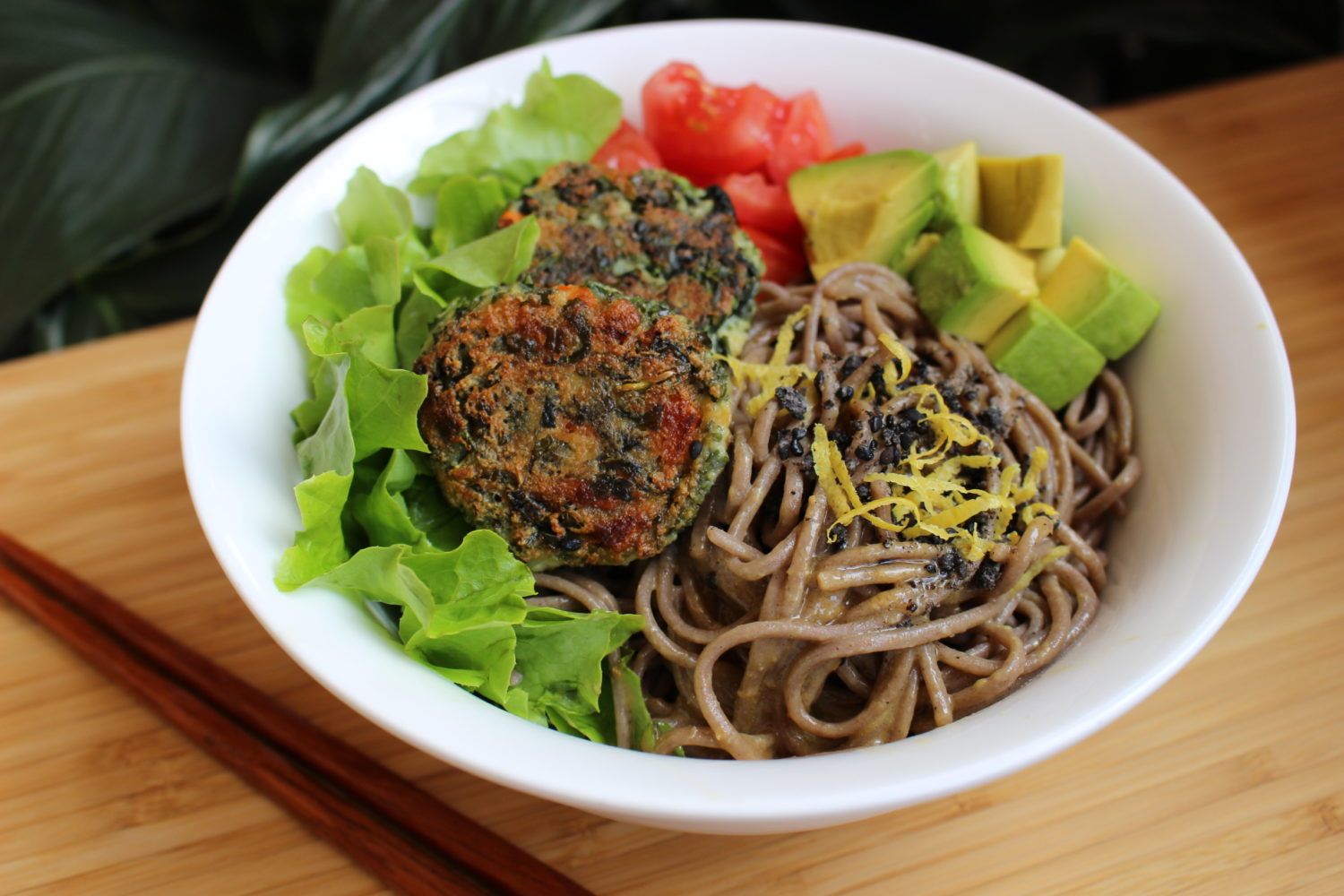 Soba_salad_tofu_ball soba-snack-sydney-vegetarian-cookingclass-vegan-glutenfree-cookingschool-healthy-Japanese