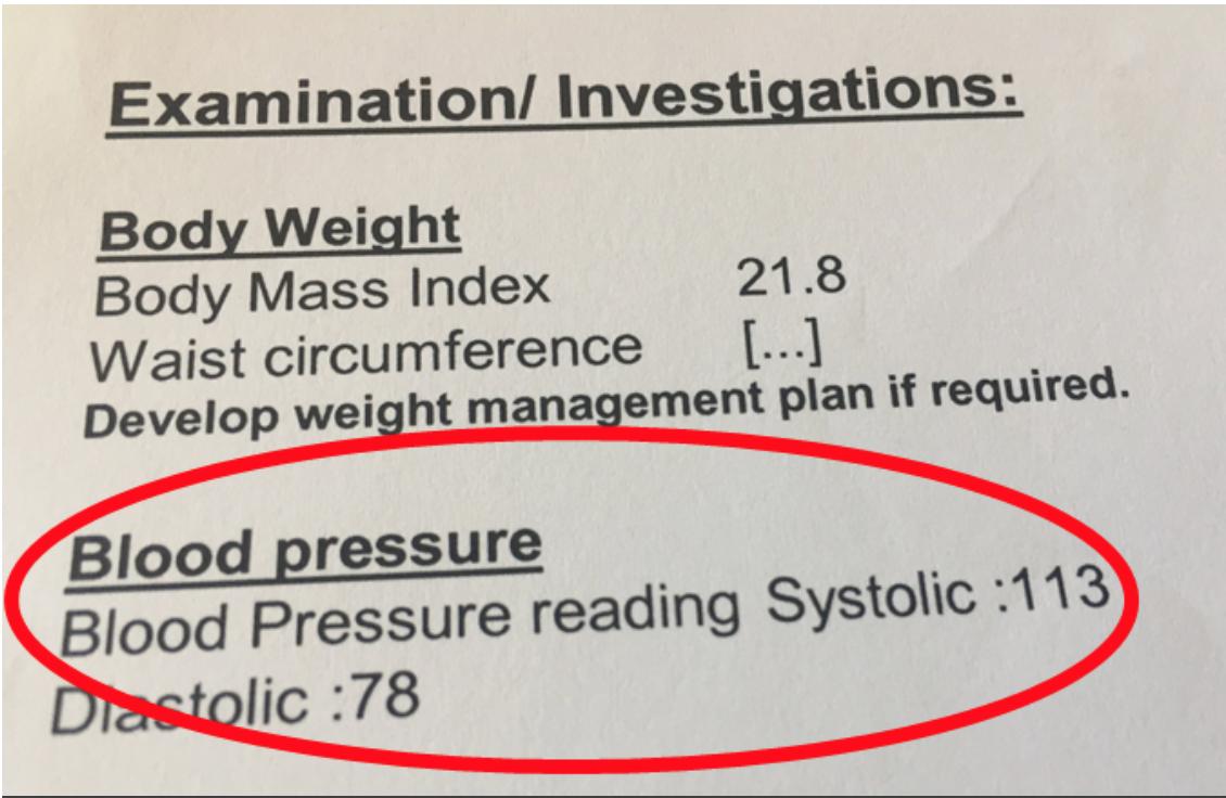 Great blood pressure level